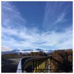 今日の八ヶ岳高原大橋から見た南アルプスと八ヶ岳