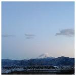 富士山はやっぱり雪が似合う