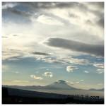 八ヶ岳から見える今朝の冨士山は幻想的だった!