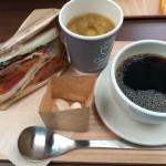 サンドイッチセット800円八ヶ岳北杜市大泉のククーカフェ