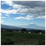 今朝の富士山と南アルプス