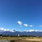 南アルプスと富士山の雪