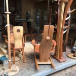 渋谷東急文化村のいっぴん工房家具展に出品する家具の運び出し