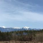 今日の南アルプスと富士山