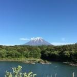 今日の絶景富士山 精進湖より望む
