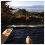 崖の湯温泉 薬師平茜宿の露天風呂を独り占め