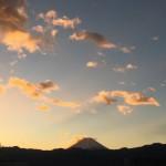 今朝4時半の富士山