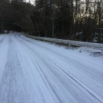 朝起きたら道路が真っ白