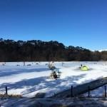 1月13日の松原湖のワカサギ釣り