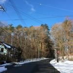 今朝の泉ラインの雪