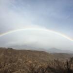 八ヶ岳に掛かる虹を見たよ