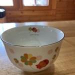 農協でもらったお気に入りのお茶碗