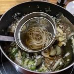 寒いのでダーリン特性夏野菜の投じ蕎麦