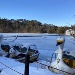 松原湖の凍結状況